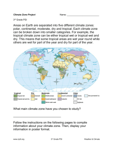 Climate Zone Information