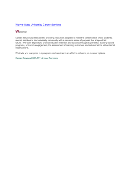 Wayne State University Career Services