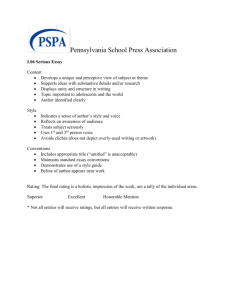 L06 Serious Essay - Pennsylvania School Press Association