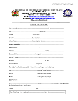 Word Doc - Mukiria Technical Training Institute