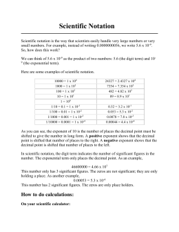 Scientific Notation Handout Worksheets for all | Download and ...
