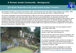 2.Pioneer Jewish Unit - Historic Cemeteries Conservation Trust