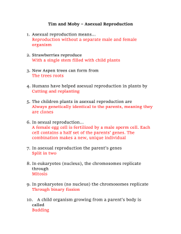 Asexual reproduction six types