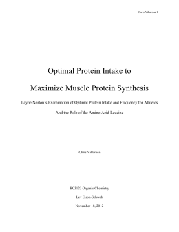 Optimal protein intake to maximize muscle protein synthesis
