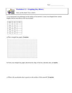 Worksheet 1.2 – Graphing (Key Below)