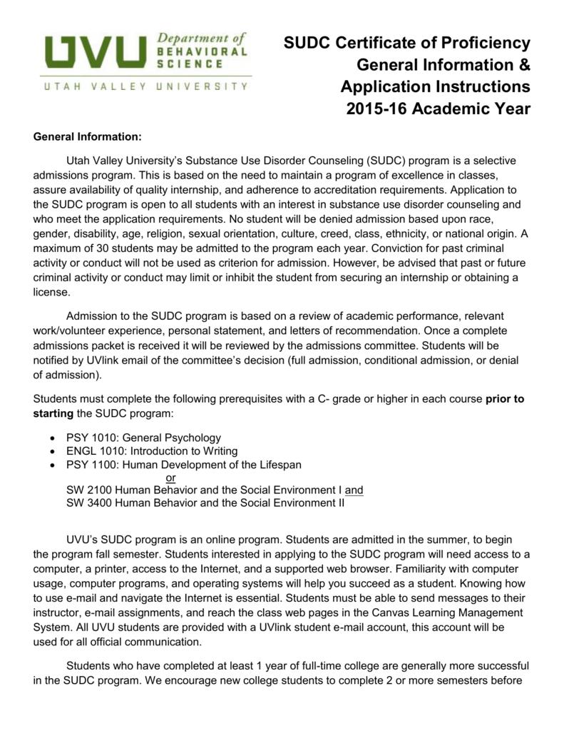Uvu Academic Calendar.Fall 2015 Sudc Admission Application