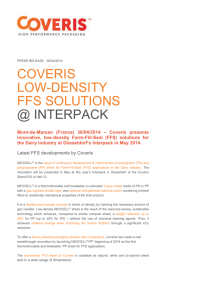 Coveris Low-Density FFS Solutions @ Interpack