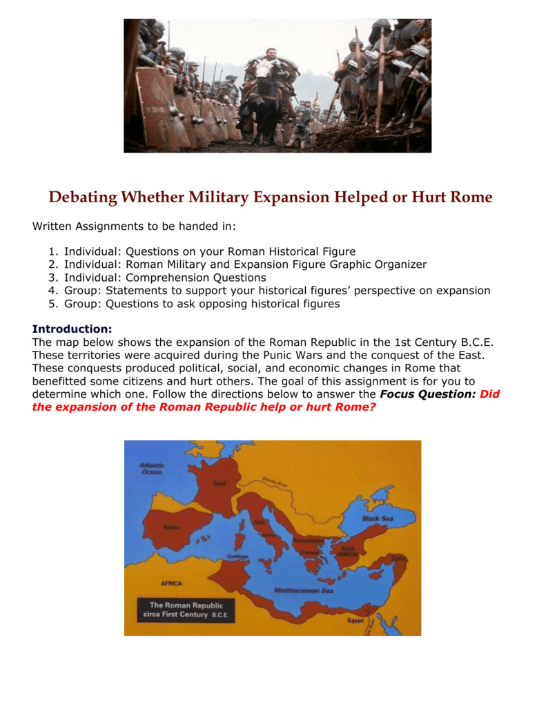 Debating Whether Military Expansion Helped or Hurt Rome
