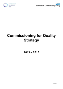 View our `Commissioning for Quality` strategy here.