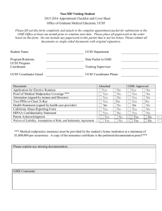 2007 UCSF Housestaff Appointment Checklist and Cover Sheet