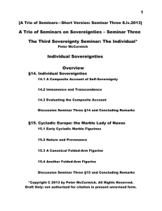 [A Trio of Seminars—Short Version: Seminar Three 8.iv.2013] A Trio