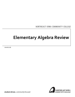 Elementary Algebra Review