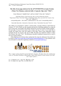 EWMOVPE 2015 abstract template