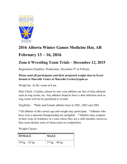 2016 Alberta Winter Games Zone 6 Trials Event Flyer