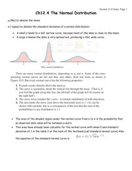 probability statistics normal distribution notes. Black Bedroom Furniture Sets. Home Design Ideas