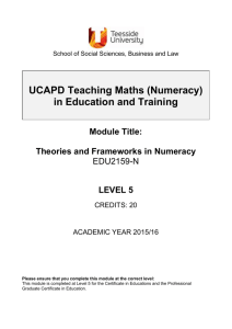 Theories and Frameworks in Numeracy
