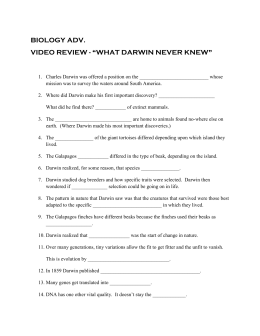 Worksheet Answers On What Darwin Never Knew   Worksheet Answers On further  further Darwin Finches Worksheet   Free Printables Worksheet moreover Collection of Video worksheet what darwin never knew   Download them additionally Identifying theme Worksheet New What Darwin Never Knew Video besides Name                                     Section likewise S37E08 What Darwin Never Knew   YouTube as well  moreover 383 Best Evolution Images On Pinterest Clroom Ideas Earth What furthermore What Darwin Never Knew Video Worksheet The Perfect Daily Agenda And furthermore Natural Selection Worksheet Answers  Darwins Natural Selection moreover  additionally Solved  Please Watch The Film What Darwin Never Knew And A together with Summary   PBS NOVA   What Darwin Never Knew additionally All Grade Worksheets » What Darwin Never Knew Video Worksheet   FREE together with Fillable Online Movie Notes   plete watching the Nova Video What. on what darwin never knew worksheet
