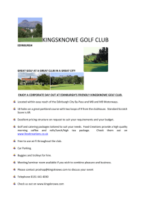 Corporate Golf Day Booking Form