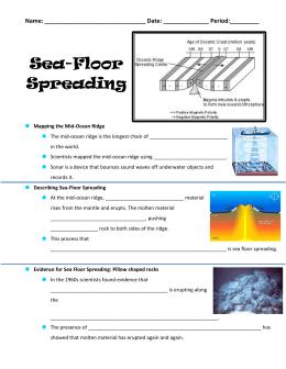 Sea floor Spreading fill in Notes for flip and PP