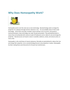 Why Does Homeopathy Work?