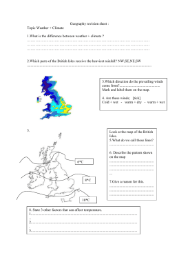 Geography revision sheet :