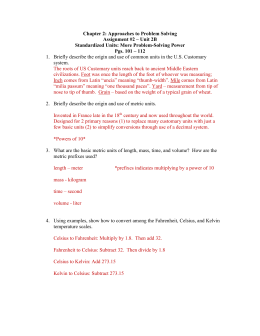 temperature conversion worksheet answers Temperature Conversion Worksheet