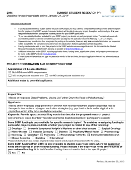 project registration and description form