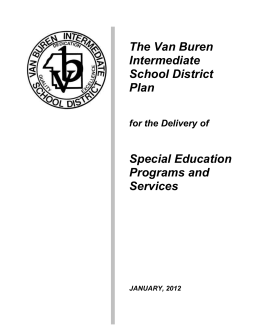 Van Buren Intermediate School District Plan