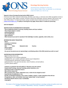 permission request form - Oncology Nursing Society