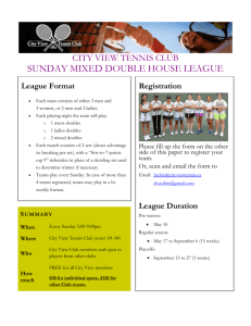 Sign up your team now - City View Tennis Club