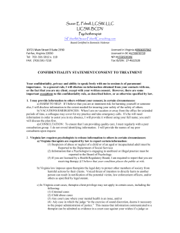 Consent For Treatment Poyner Psychological Services