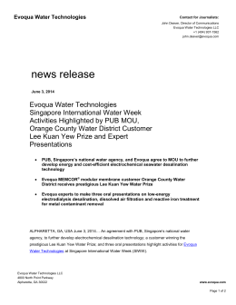 - Singapore International Water Week
