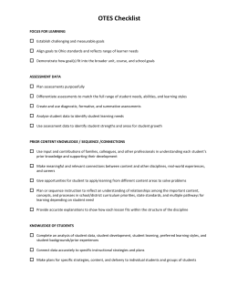 otes lesson plan template - faculty teaching self assessment
