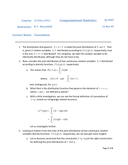 Lecture Notes: Convolution