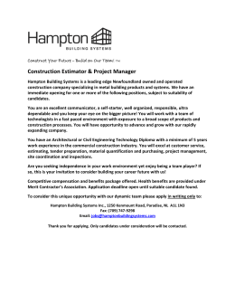 Contruction Estimator & Project Manager