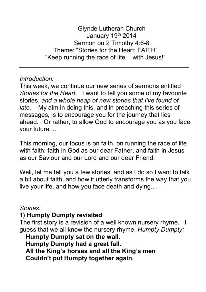 Jan 19 2014 – 2 Timothy 4:6-8