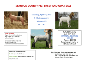 2015 Swine, Goat and Sheep Sale