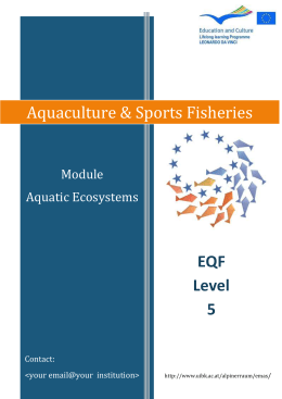 Aquaculture & Sports Fisheries