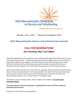 Award Categories - Massachusetts Service Alliance