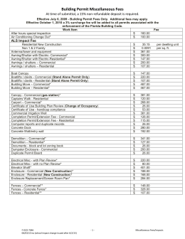 Permit Fees - City of Cape Coral