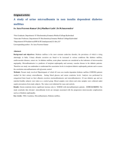 A study of urine microalbumin in non insulin dependent