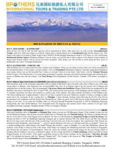 Pdf/Doc :: 8D Kingdom of Bhutan via Kathmandu