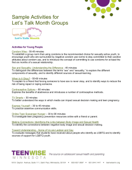 Sample Activities for Let`s Talk Month Groups