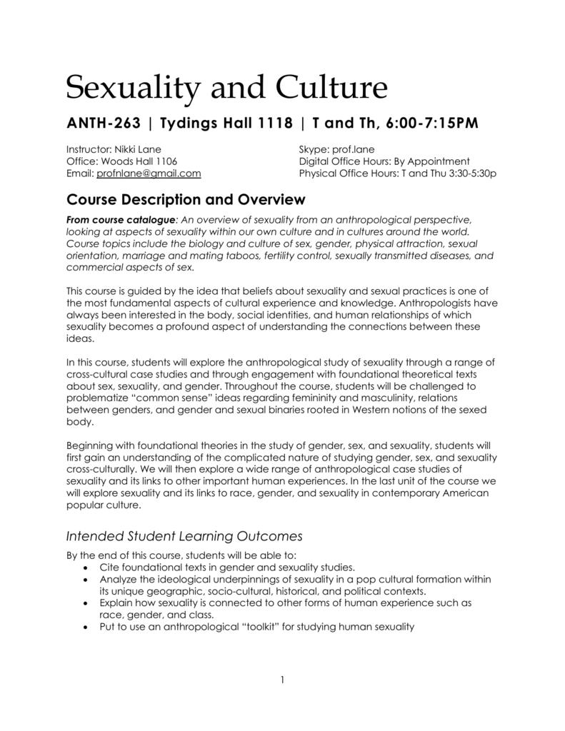 Case studies on sex and gender