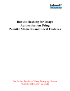 Robust Hashing for Image Authentication Using Zernike Moments