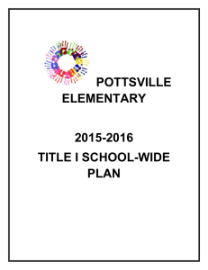 Title I School-wide Plan-Elem 2015