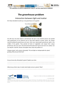 The greenhouse problem