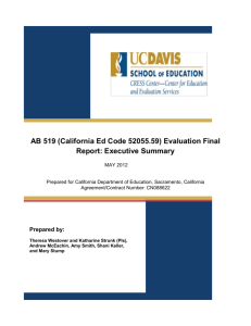 AB 519 Evaluation Final Report