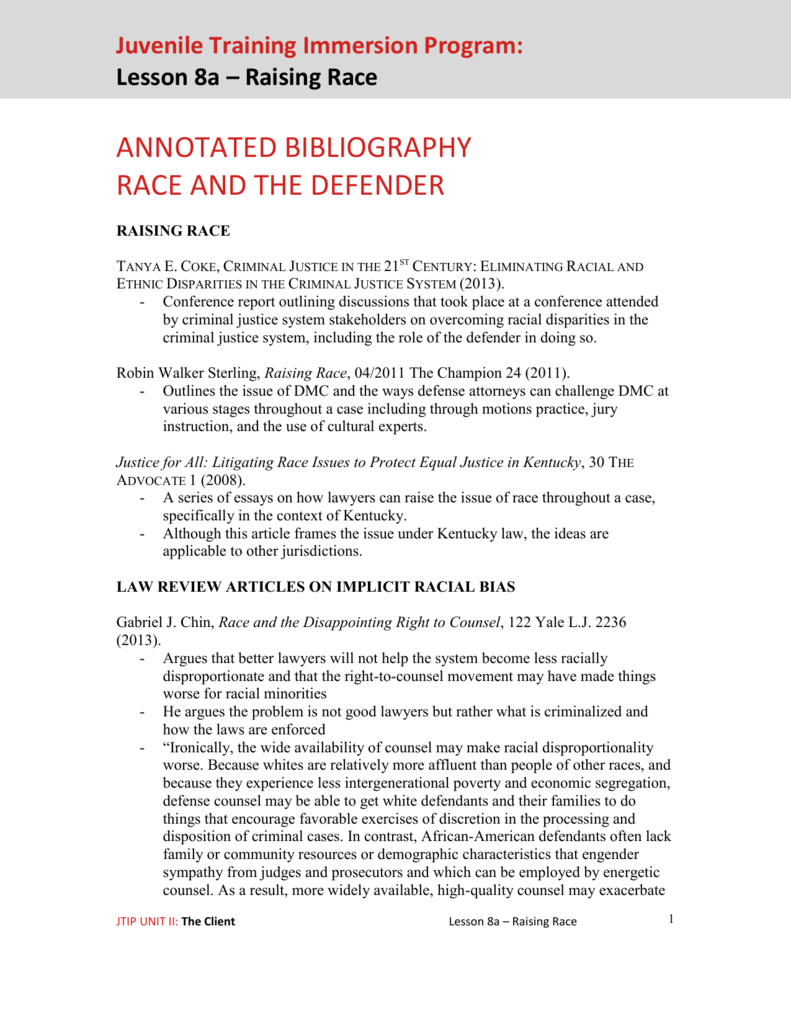 Order criminal law annotated bibliography care giver job sample resume