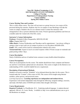 N201 Syllabus Spring 2012 - South Dakota State University